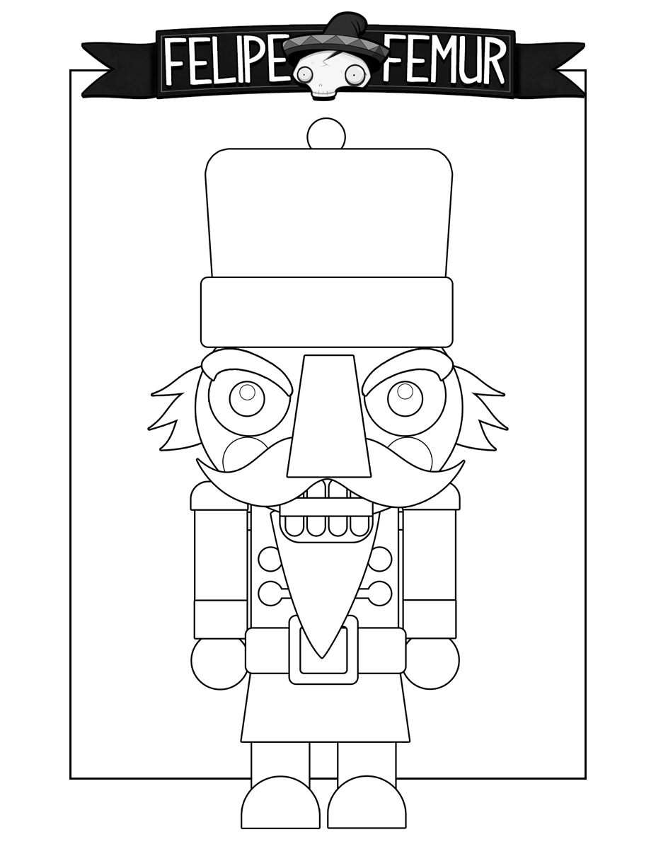 Nutcracker Coloring Sheet