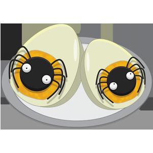 Deviled Spider Eggs